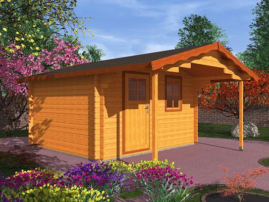 Zahradní domky Laura EKO - Laura EKO 350x350 28 mm s čelním přesahem 170 cm