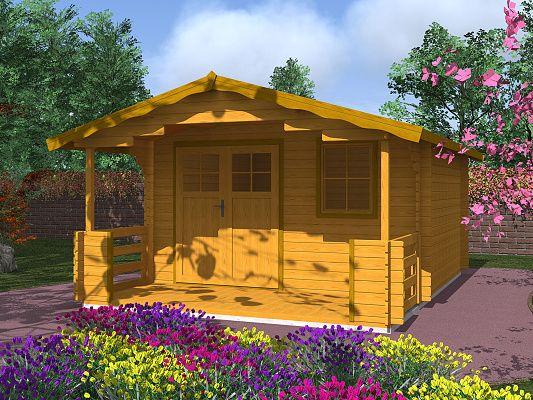 Zahradní chatky Luka EKO DD - Luka EKO DD 350x300 28 mm