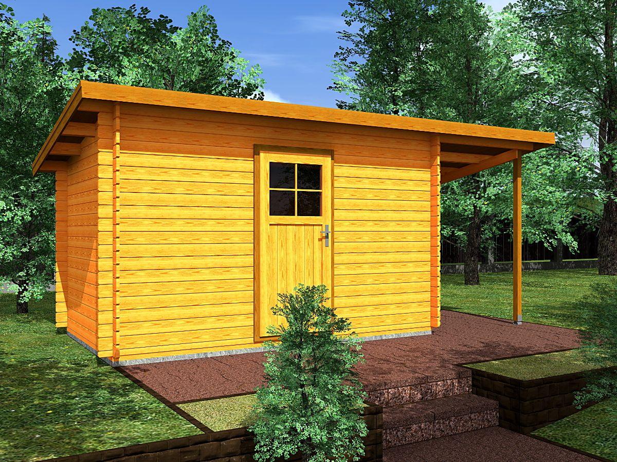 Zahradní domky na nářadí Robin EKO - Robin EKO 350x250 28 mm + přístřešek