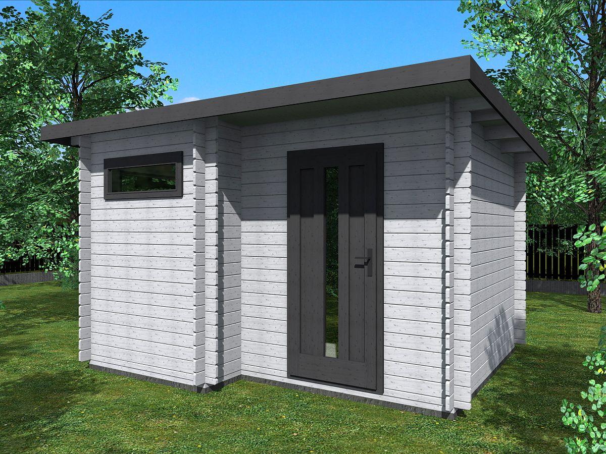 Zahradní domky UELI <br> s rovnou střechou - Ueli 350x300 28 mm