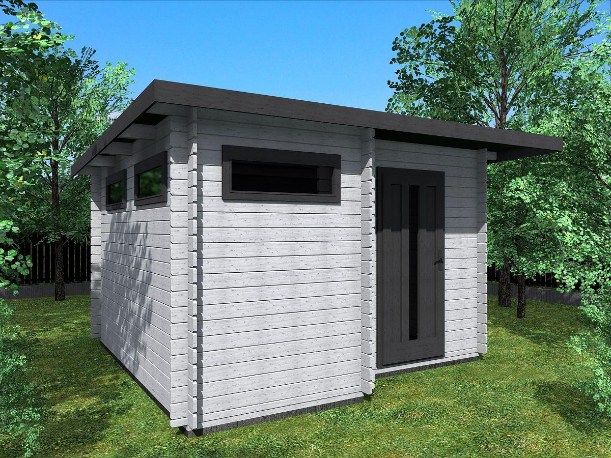 Zahradní domky UELI s rovnou střechou - Ueli 350x350 28 mm