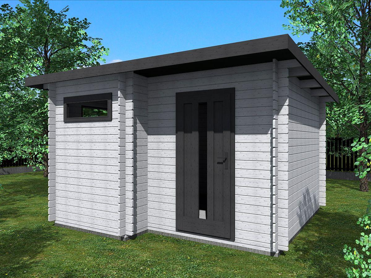 Zahradní domky UELI <br> s rovnou střechou - Ueli 350x350 28 mm