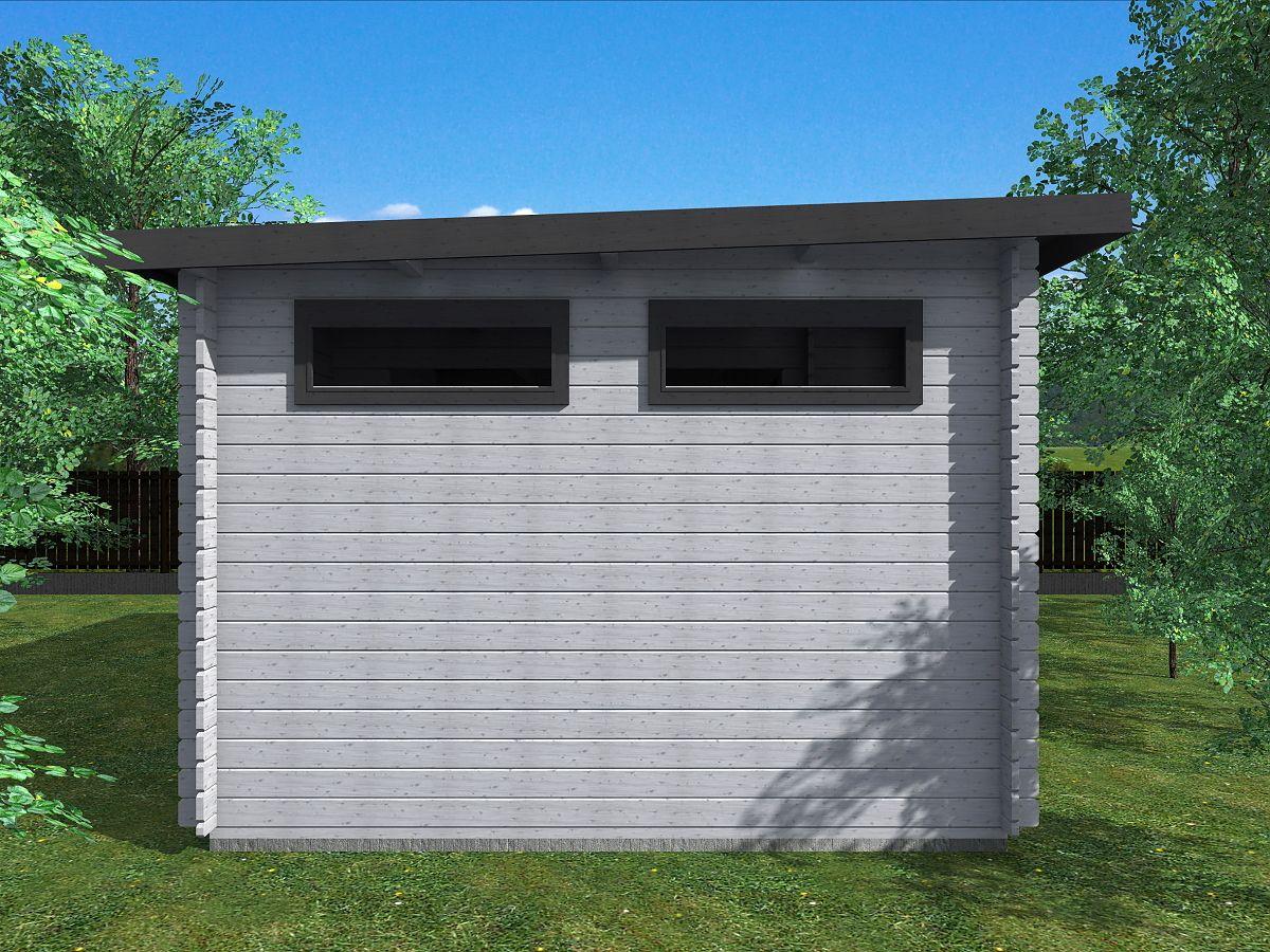 Zahradní domky UELI <br> s rovnou střechou - Ueli 450x300 28 mm