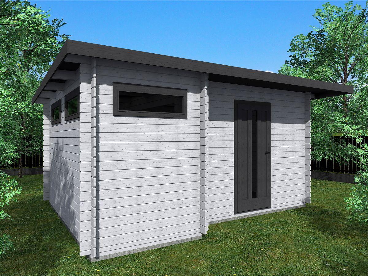 Zahradní domky UELI s rovnou střechou - Ueli 450x350 28 mm