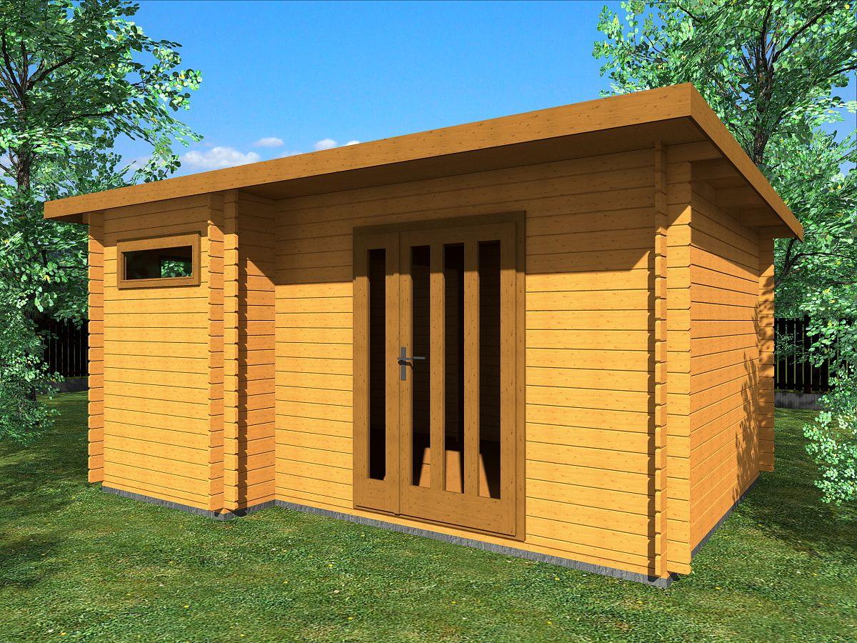 Zahradní domky UELI s rovnou střechou - Ueli DD 450x350 28 mm